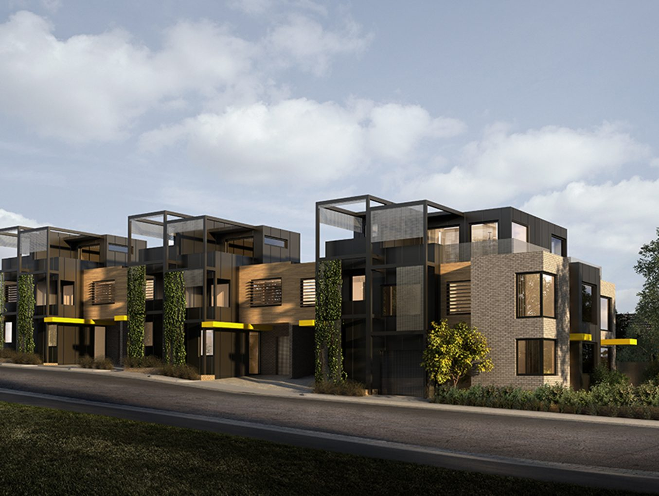 The Clarke Street Collective: final design for Northcote 7 townhouse project