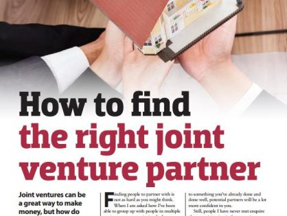 How to find the right joint venture development partner: Your Investment Property magazine